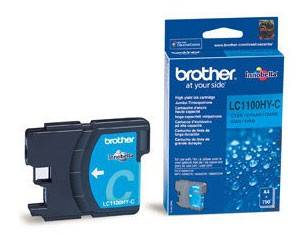 Картридж струйный Brother LC1100HYC голубой - фото 1