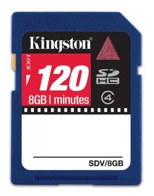 Карта памяти SDHC 8Gb Class4 Kingston SDV/8GB - фото 1