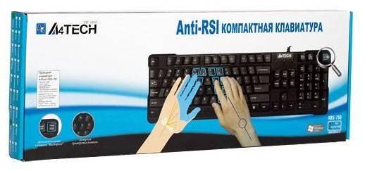 Клавиатура A4 KBS-750 черный - фото 3