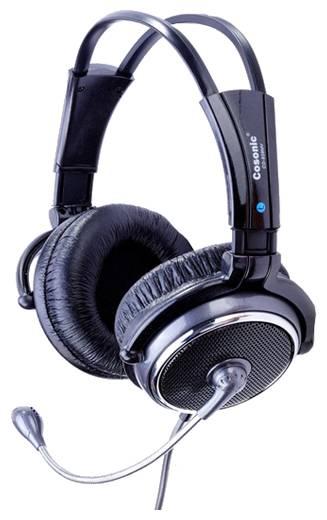 Наушники с микрофоном CD-828MV черный - фото 1