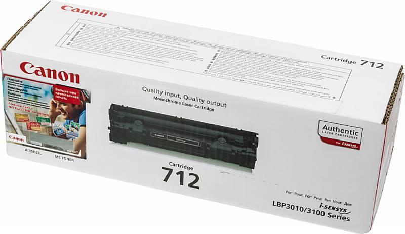 Тонер Картридж Canon 712 1870B002 черный - фото 1