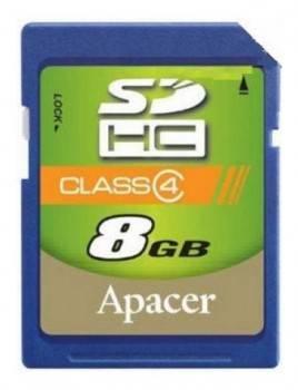 Карта памяти SDHC 8Gb Class4 Apacer AP8GSDHC4-R