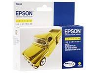 Картридж струйный Epson T0634 C13T06344A10 желтый
