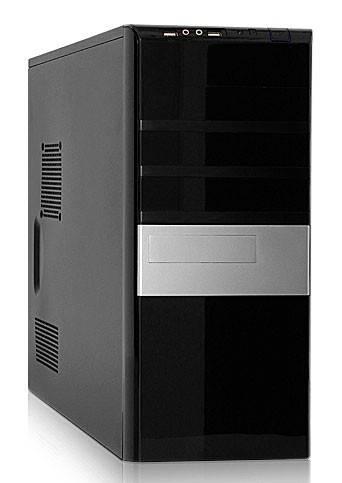 Корпус ATX 500W Foxconn TSAA-680 черный/серебристый - фото 1