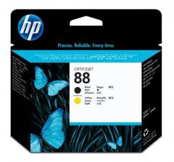 Печатающая головка HP 88 черный/желтый (C9381A)