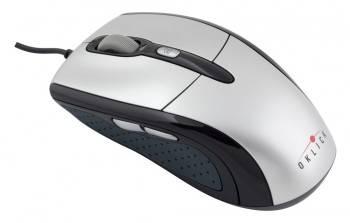 Мышь Оклик 610L серебристый/черный (b181)