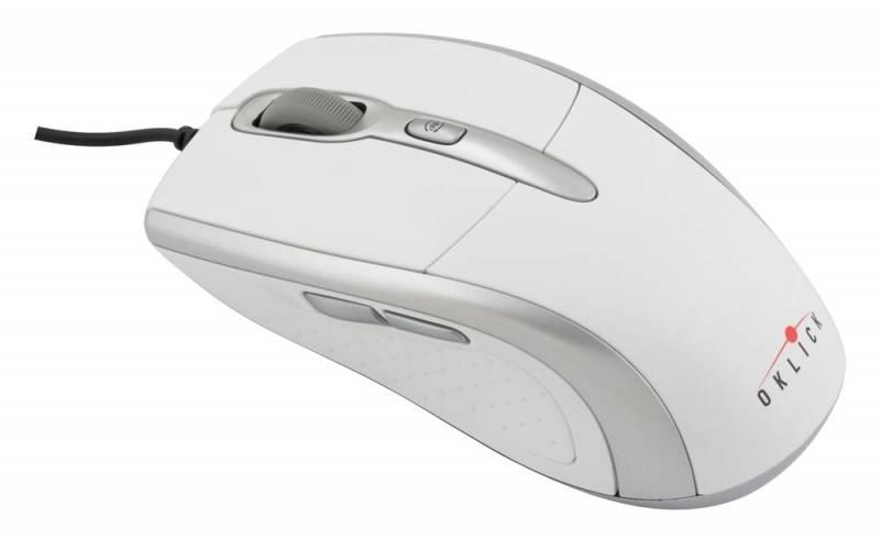 Мышь Oklick 610L белый/серебристый - фото 1
