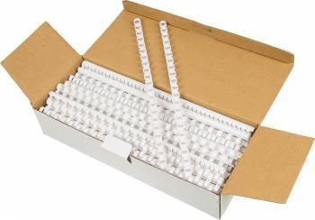 Пружины для переплета пластиковые Fellowes d=10мм41-55лист A4 белый (100шт) CRC-53458