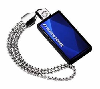Флеш диск Silicon Power Touch 810 8ГБ USB2.0 синий (SP008GBUF2810V1B)