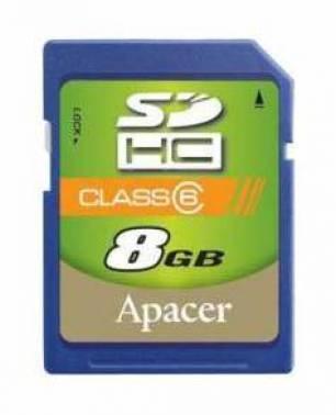 Карта памяти SDHC 8Gb Class6 Apacer AP8GSDHC6-R