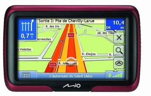"GPS-навигатор Mitac Mio Moov M400 4.3"" бордовый - фото 2"