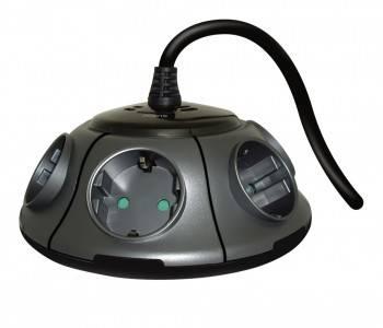 Сетевой фильтр Ippon BU-211GM 1.8м серый