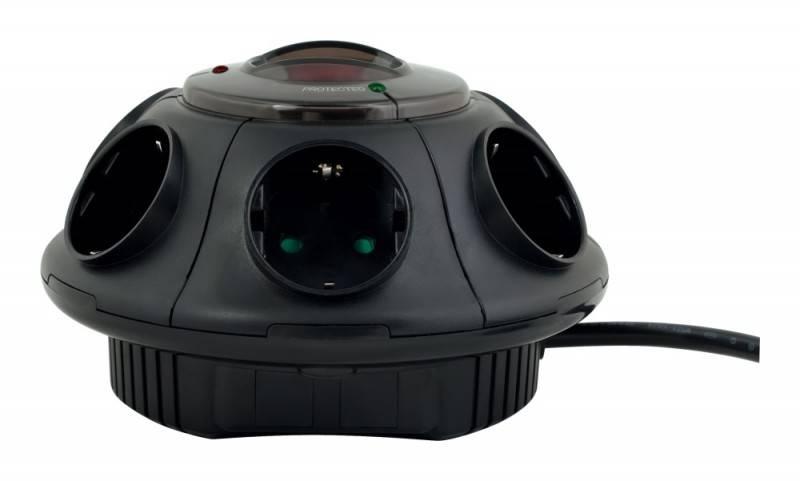 Сетевой фильтр Ippon BU-212B 1.8м черный - фото 2