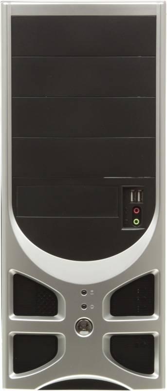 Корпус ATX 450W Foxconn TLA-570А черный/серебристый - фото 2