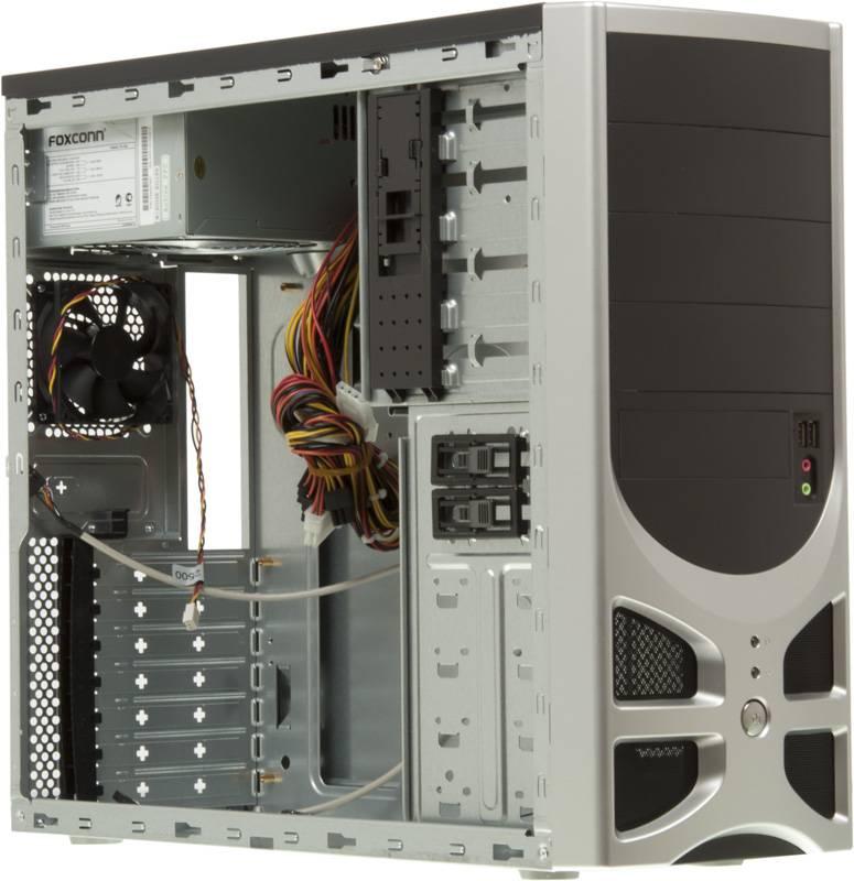Корпус ATX 450W Foxconn TLA-570А черный/серебристый - фото 5