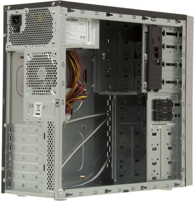 Корпус ATX 450W Foxconn TLA-570А черный/серебристый - фото 7