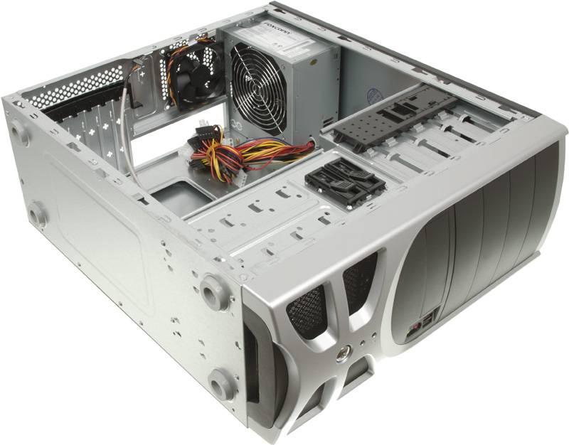 Корпус ATX 450W Foxconn TLA-570А черный/серебристый - фото 8