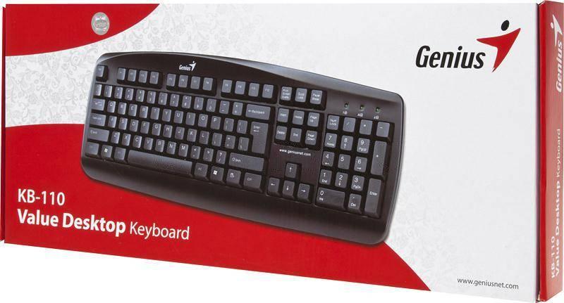 Клавиатура Genius KB-110 черный - фото 4