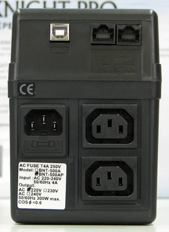 ИБП Powercom Black Knight Pro BNT-800AP - фото 3