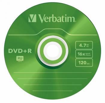 Диск DVD+R Verbatim 4.7Gb 16x (5шт) (43556)