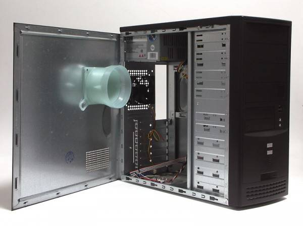Корпус ATX 350W Foxconn TSAA-804 черный - фото 2