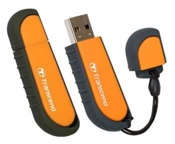 Флеш диск Transcend Jetflash V70 8ГБ USB2.0 оранжевый / черный