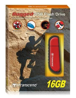 Флеш диск Transcend Jetflash V70 16ГБ USB2.0 красный/черный (TS16GJFV70) - фото 2