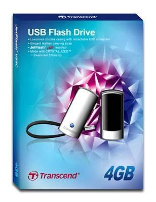 Флеш диск Transcend Jetflash V95C Classic 4ГБ USB2.0 черный - фото 2