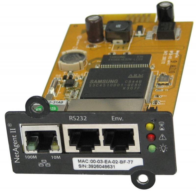 Блок управления Powercom BP506-06-LF for UPS NetAgent II(BT506) internal 3ports - фото 1