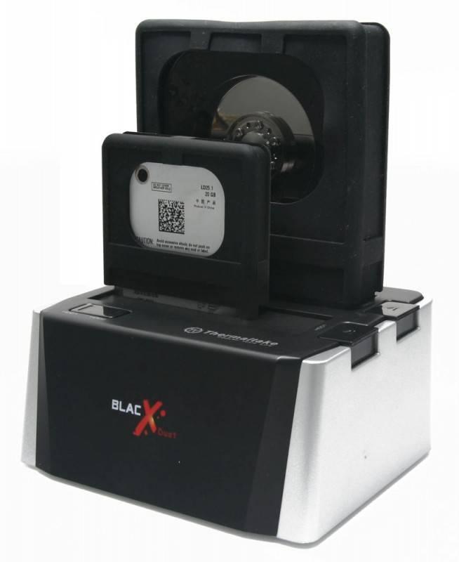 Док-станция Thermaltake BlacX Duet ST0015E SATA II серебристый - фото 7