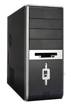 Корпус ATX LinkWorld 316-10 черный/серебристый - фото 1