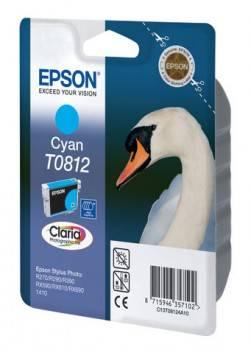 Картридж струйный Epson T0812 C13T11124A10 голубой