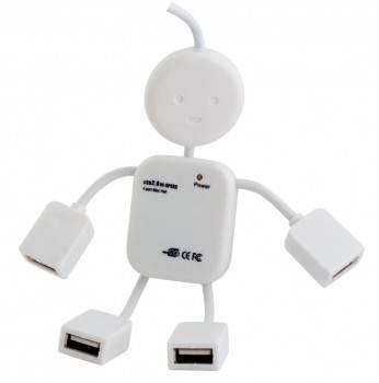 Разветвитель USB 2.0 PC Pet Human белый