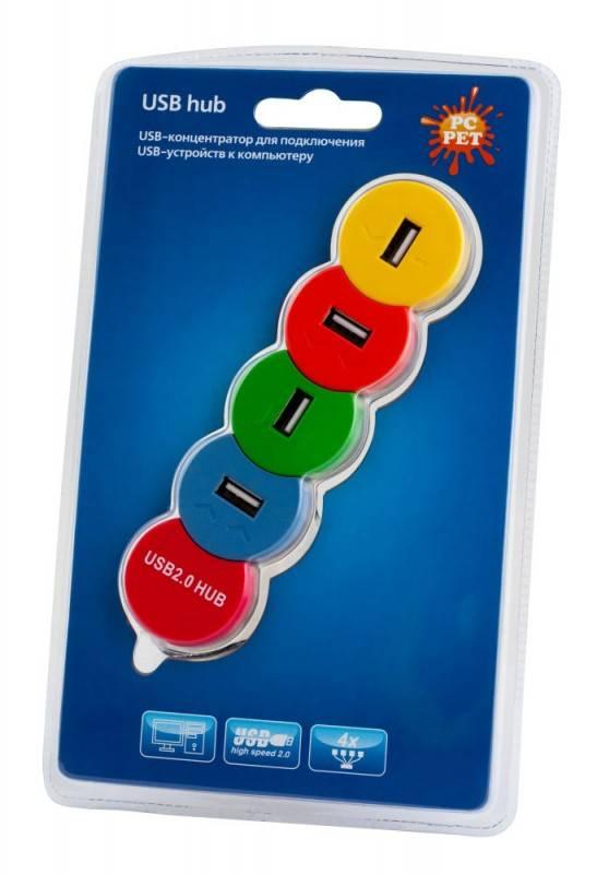 Разветвитель USB 2.0 PC Pet Snake разноцветный - фото 3