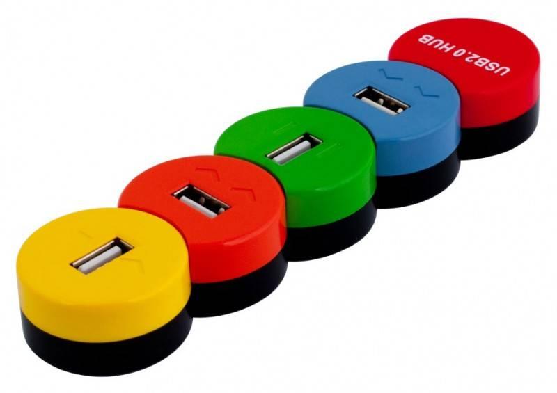 Разветвитель USB 2.0 PC Pet Snake разноцветный - фото 1