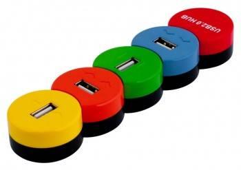Разветвитель USB 2.0 PC Pet Snake разноцветный