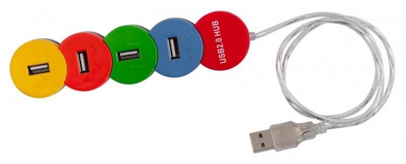 Разветвитель USB 2.0 PC Pet Snake разноцветный - фото 2