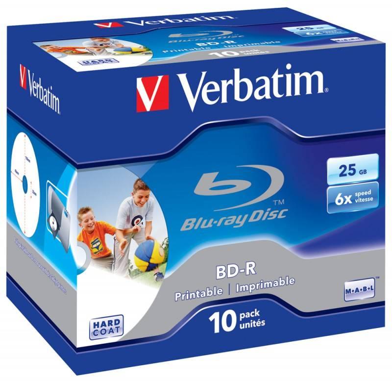Диск BD-R Verbatim 25Gb 6x (10шт) (43713) - фото 1