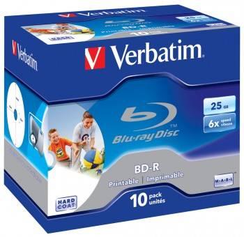 Диск BD-R Verbatim 25Gb 6x (10шт) (43713)