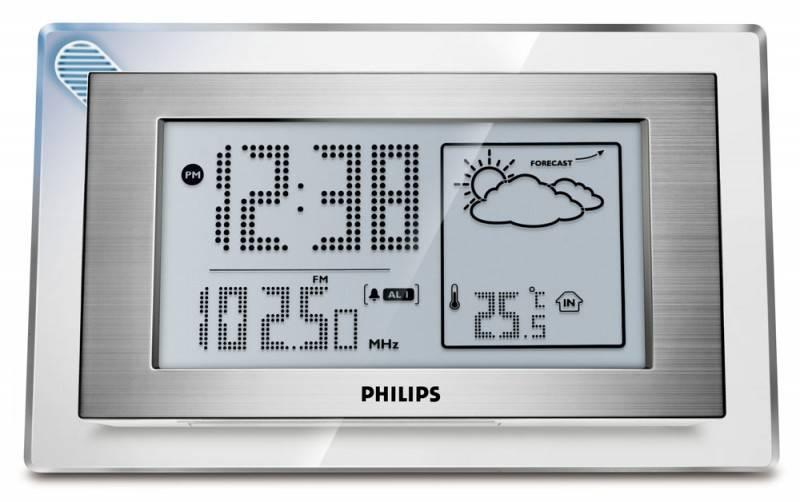 Радиобудильник Philips AJ210 серебристый - фото 1