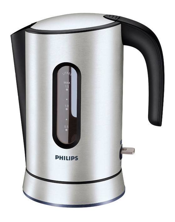 Чайник электрический Philips HD4690 серебристый/черный - фото 1