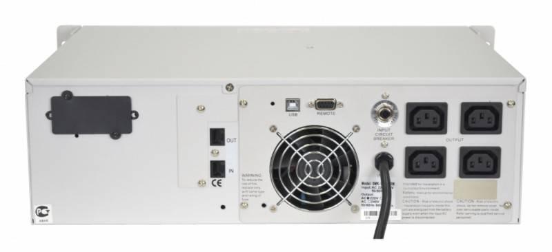 ИБП Powercom Smart King RM SMK-3000A RM LCD - фото 3