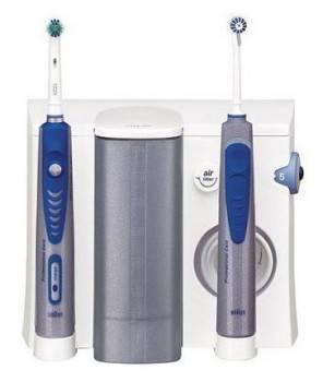 Электрическая зубная щетка Oral-B OXYJET + 3000 белый