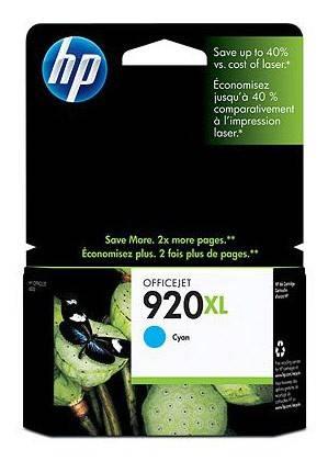 Картридж струйный HP 920XL CD972AE голубой - фото 1