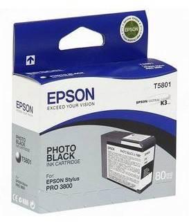Картридж Epson T5801 фото черный (C13T580100)