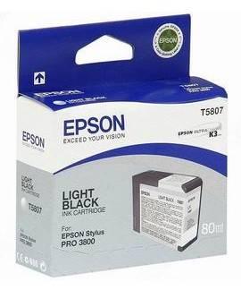 Картридж струйный Epson T5807 серый (C13T580700)