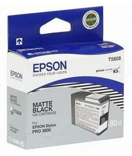 Картридж Epson T5808 черный матовый (C13T580800)