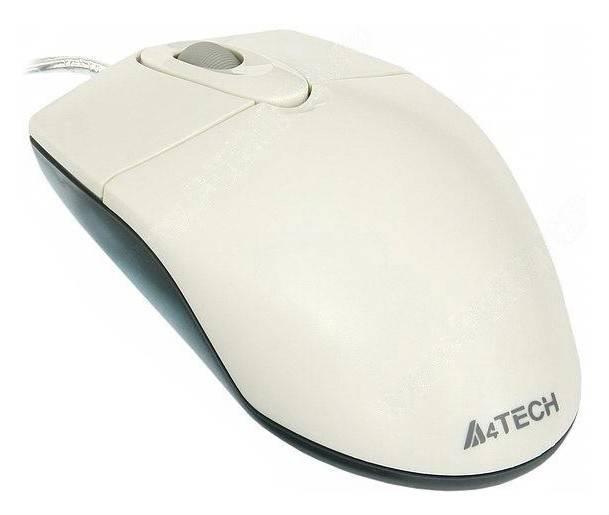 Мышь A4 OP-720 белый - фото 1