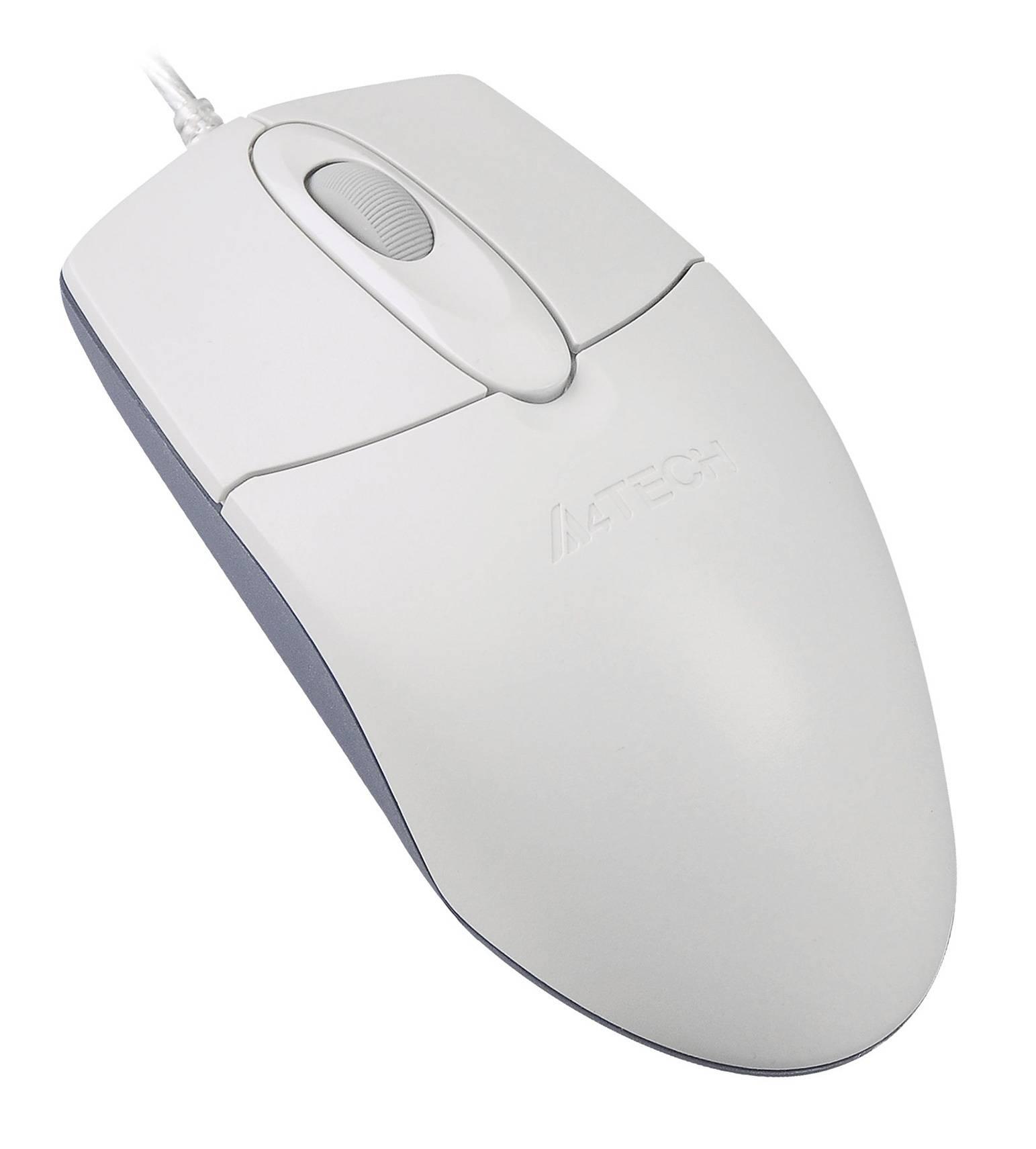 Мышь A4 OP-720 белый - фото 2