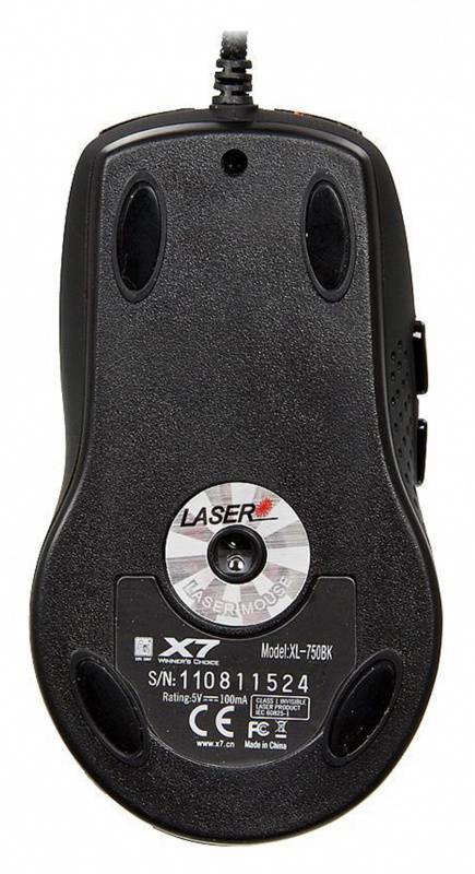 Мышь A4 XL-750BK красный/черный - фото 2